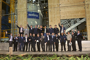 Nexterra staff at the opening of the UBC bioenergy plant.